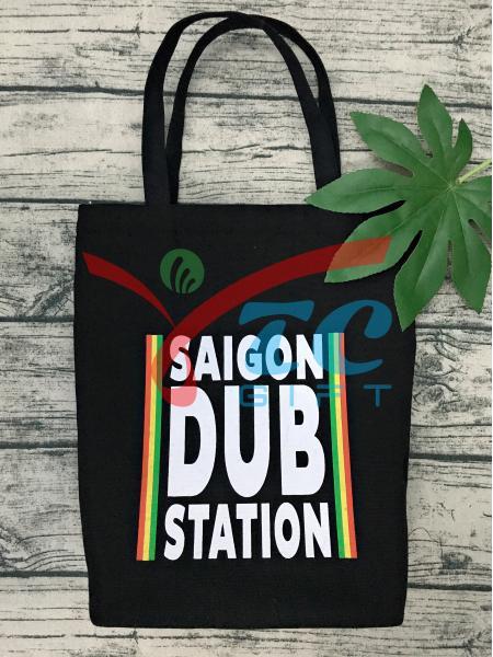TÚI VẢI BỐ MÀU ĐEN SAIGON DUB STATION