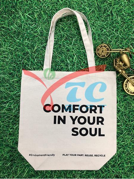 TÚI VẢI BỐ MÀU TRẮNG KEM COMFORT IN YOUR SOUL