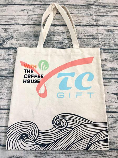 TÚI VẢI BỐ MÀU TRẮNG KEM THE COFFEE HOUSE