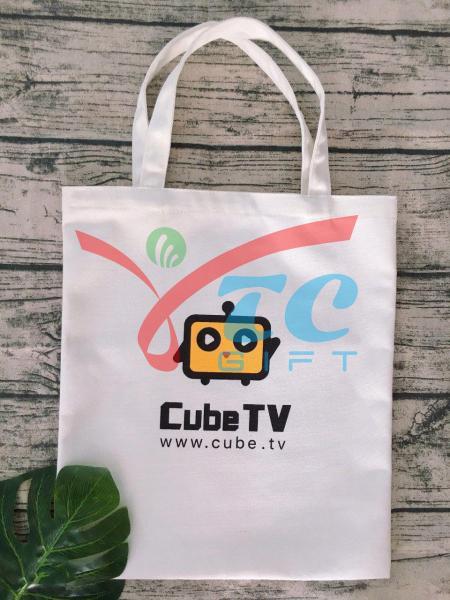 TÚI VẢI BỐ MÀU TRẮNG TẨY CUBE TV