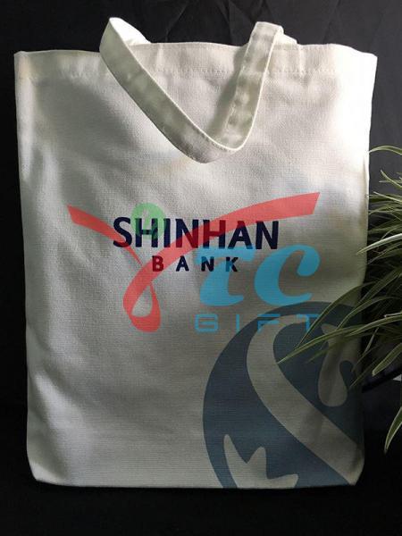 TÚI VẢI BỐ MÀU TRẮNG TẨY SHINHAN BANK