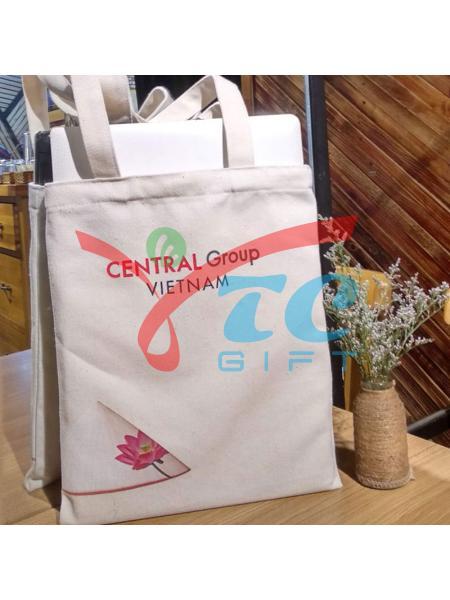 Túi canvas trắng kem CENTRAL Group VIETNAM