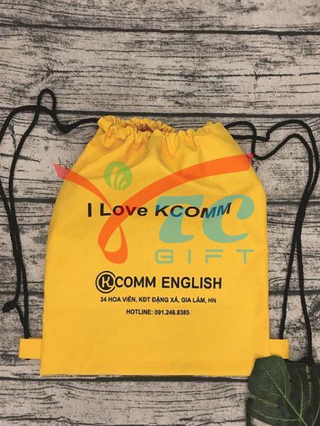 BALÔ DÂY RÚT VẢI BỐ I LOVE KCOMM