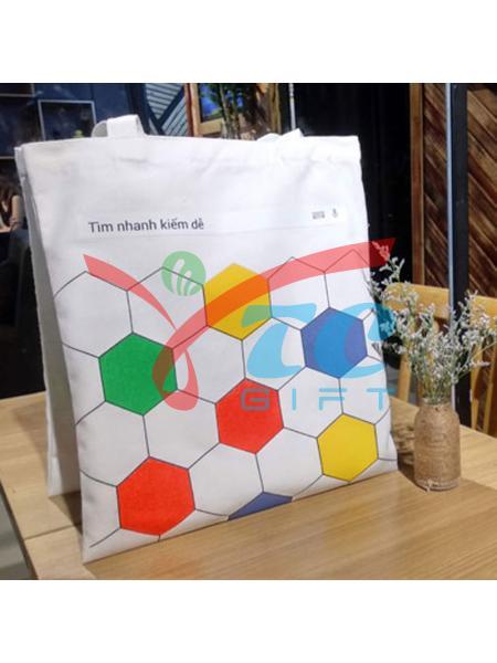 Túi tote trắng kem Google
