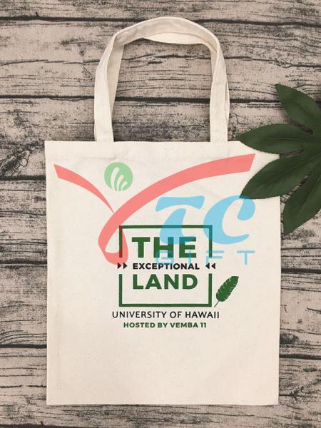 TÚI TOTE MÀU TRẮNG KEM THE LAND EXCEPTIONAL