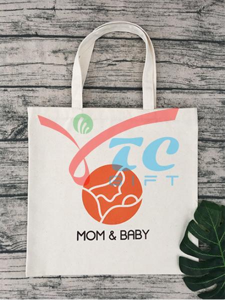 TÚI TOTE MÀU TRẮNG KEM MOM & BABY