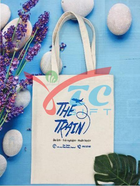 TÚI TOTE MÀU TRẮNG KEM THE TRAIN