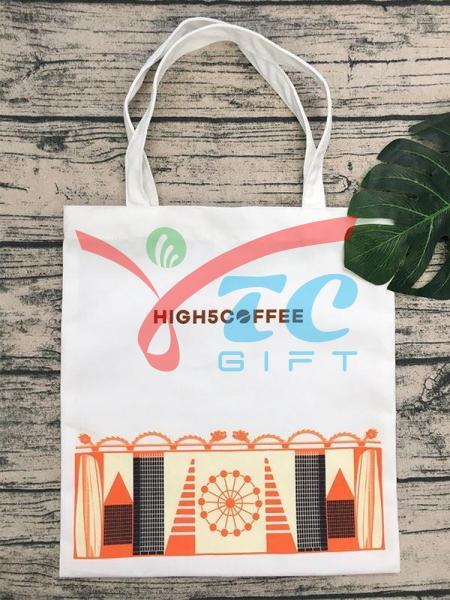 TÚI TOTE MÀU TRẮNG TẨY HIGH 5 COFFEE