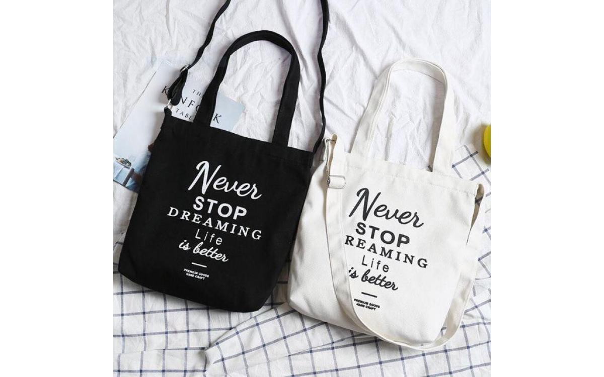 Túi vải đeo chéo - những chiếc túi làm nên phong cách